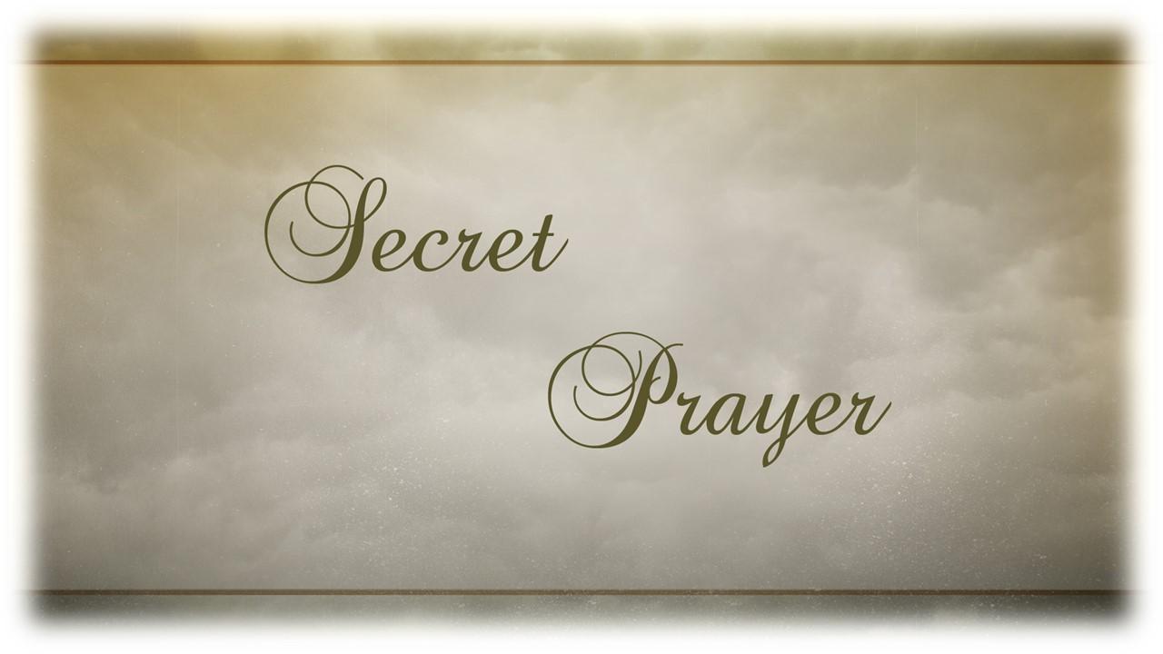 Secret Prayer2