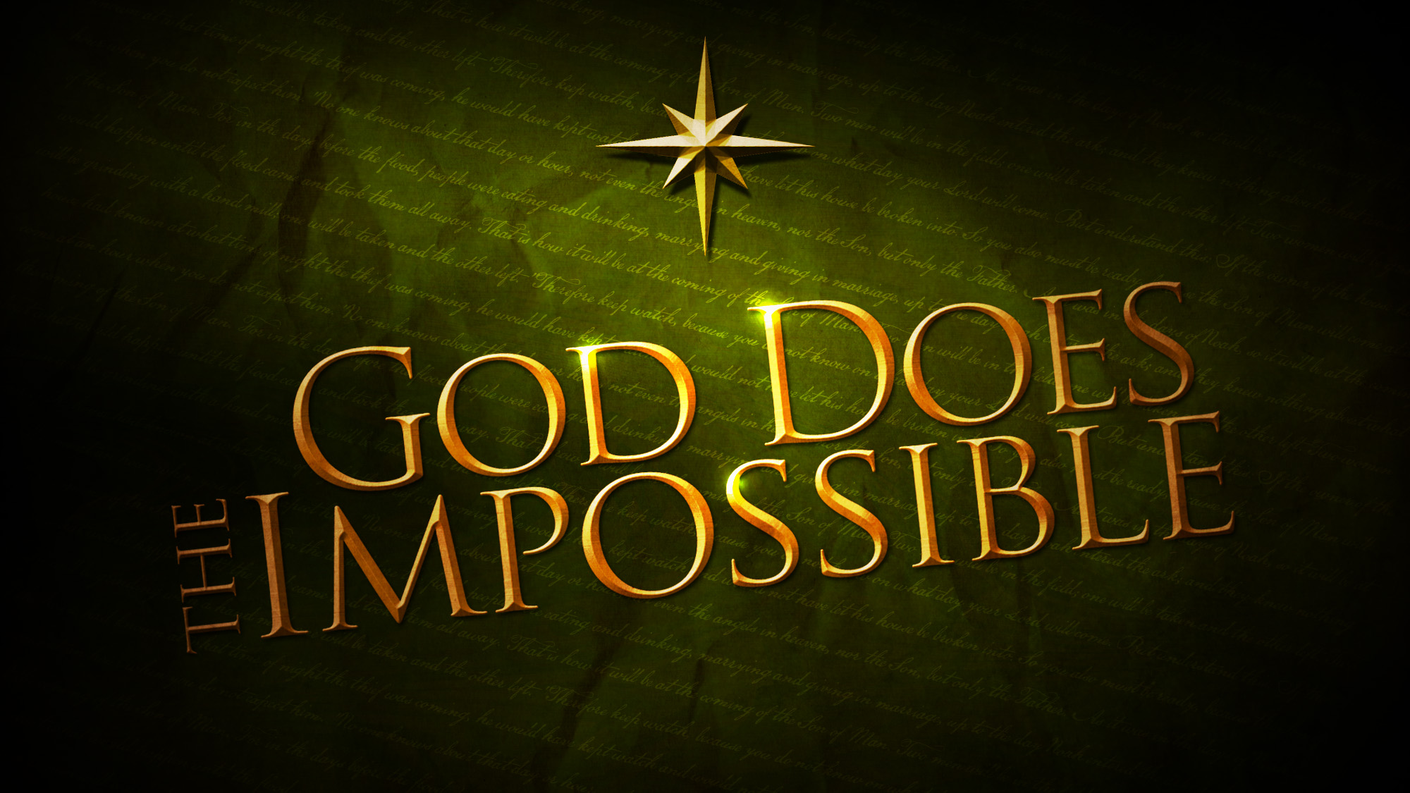 God does the impossible